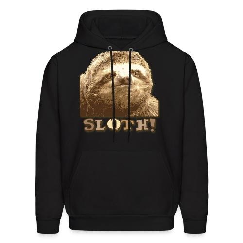 Sloth Black Hoodie  - Men's Hoodie