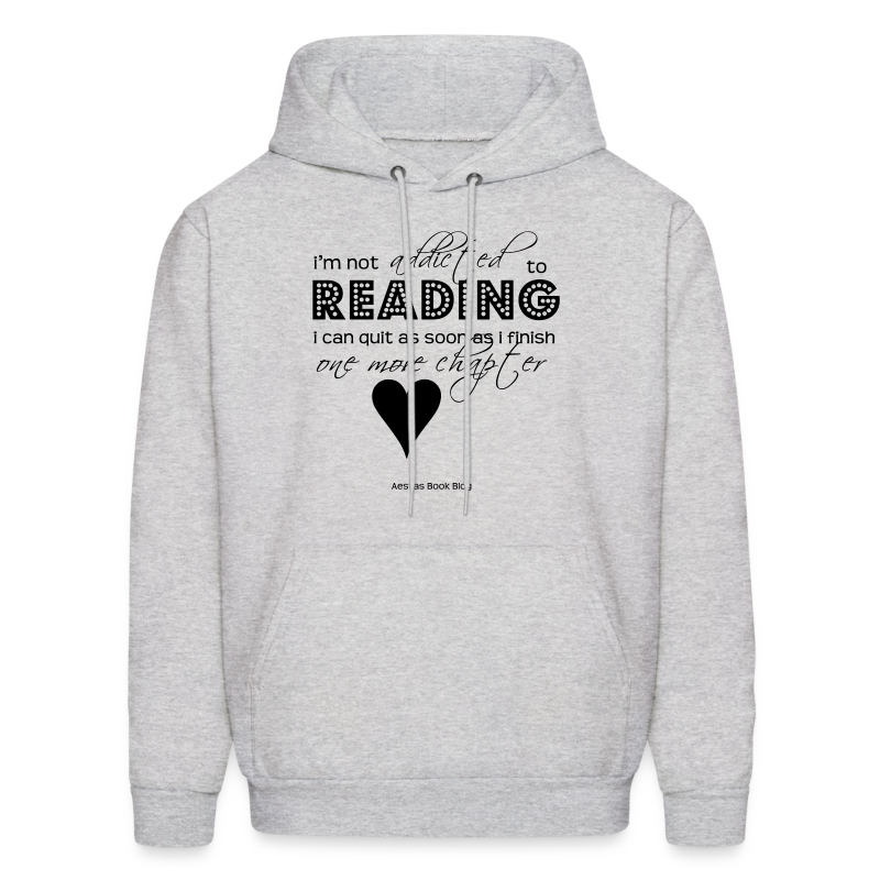 I'm not addicted to reading - script (BLACK).png - Men's Hoodie