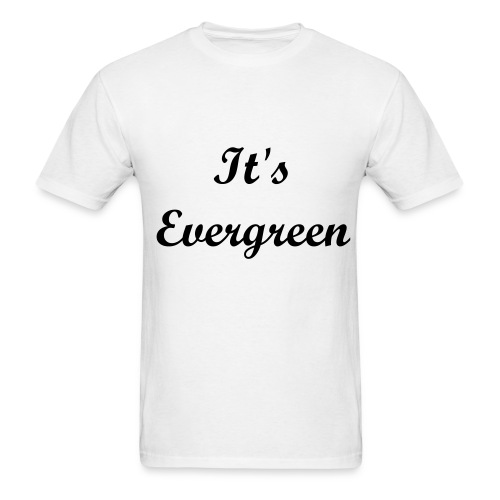 Evergreen, white, Men, T-shirt - Men's T-Shirt