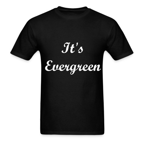 Evergreen, black, Men, T-shirt - Men's T-Shirt