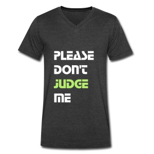 P.D.J.M. Men's V-neck Tee (White Font) - Men's V-Neck T-Shirt by Canvas