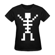 Women's T-Shirts ~ Women's T-Shirt ~ Happy Skeleton - Women Shirt