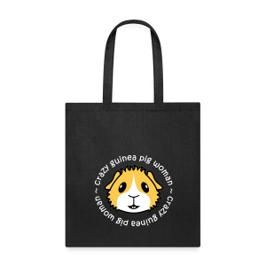 'Crazy Guinea Pig Woman' Tote Shopping Bag - Tote Bag