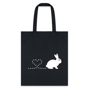 'Pooping Heart Rabbit' Tote/Shopping Bag - Tote Bag