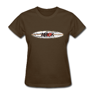 Women's T-Shirts ~ Women's T-Shirt ~ AMOK - tribal breaker surfboard