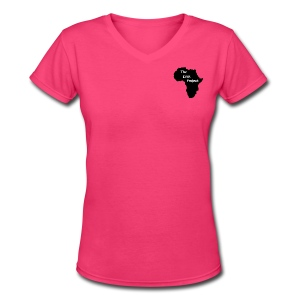 Women's Africa V-Neck - Women's V-Neck T-Shirt