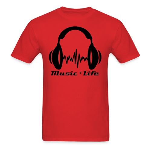 Music = Life - Men's T-Shirt