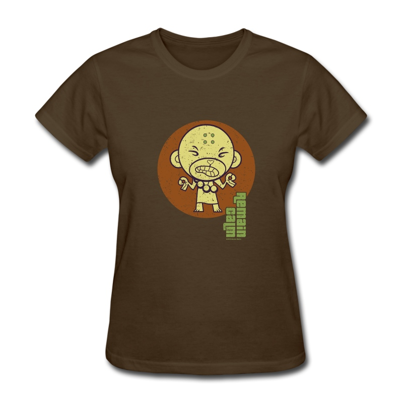 HTF - Buddhist Monkey - Remain Calm - Women's T-Shirt