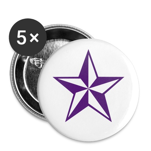 Star Button - Buttons small 1'' (5-pack)