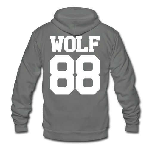 Chen Wolf Team Double Sided - Unisex Fleece Zip Hoodie by American Apparel