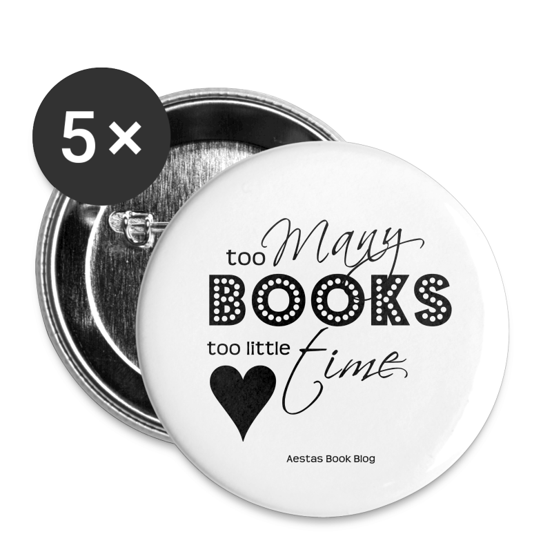 too many books too little time (BLACK).png - Large Buttons