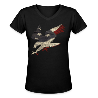 Old Glory American Flag Eagle Women's T-Shirts
