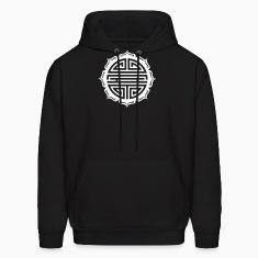 Shou Lotus , Chinese good luck charm, long life Hoodies