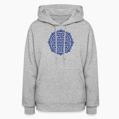 Shou, Chinese,good luck charm, symbol long life / Hoodies