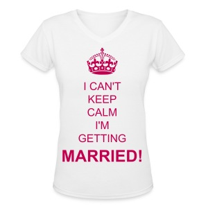 Women's V-Neck T-Shirt - Congratulations! Grab this tee and celebrate.