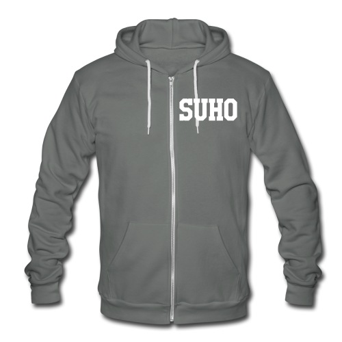 Suho Wolf Team Double Sided - Unisex Fleece Zip Hoodie by American Apparel