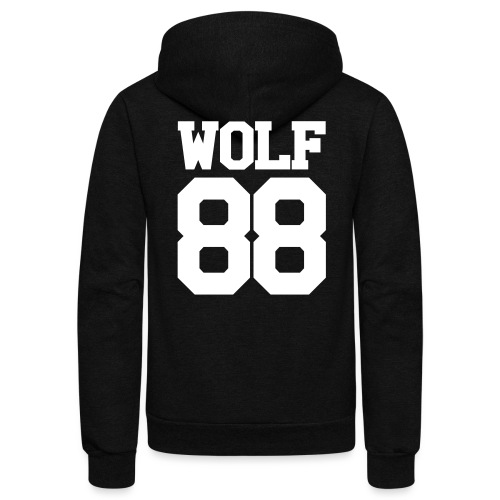 ChanYeol Wolf Team Double Sided - Unisex Fleece Zip Hoodie by American Apparel