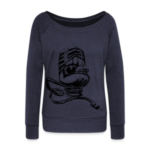 shirt- sing - Women's Wideneck Sweatshirt