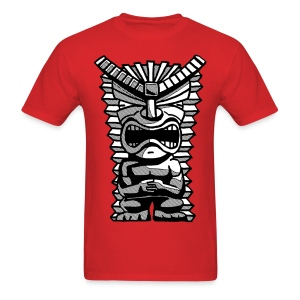 Grumpy Tiki Man Tshirt - Men's T-Shirt