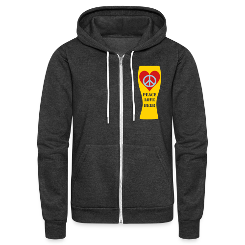 Peace Love Beer Unisex Fleece Zip Hoodie (Double Sided) - Unisex Fleece Zip Hoodie