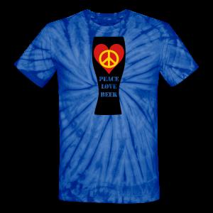 Peace Love Beer Unisex Tie Dye T-Shirt (Double Sided) - Unisex Tie Dye T-Shirt