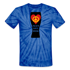 Peace Love Beer Unisex Tie Dye T-Shirt (Double Sided) - Unisex Tie Dye T-Shirt