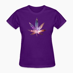 Pot Leaf - Cosmic Texture Women's T-Shirts