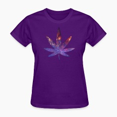 Pot Leaf - Space Texture Women's T-Shirts