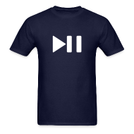 T-Shirts ~ Men's T-Shirt ~ Play/Pause Tee