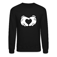 Long Sleeve Shirts ~ Crewneck Sweatshirt ~ Hand Heart Crewneck