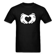 T-Shirts ~ Men's T-Shirt ~ Hand Heart Tee