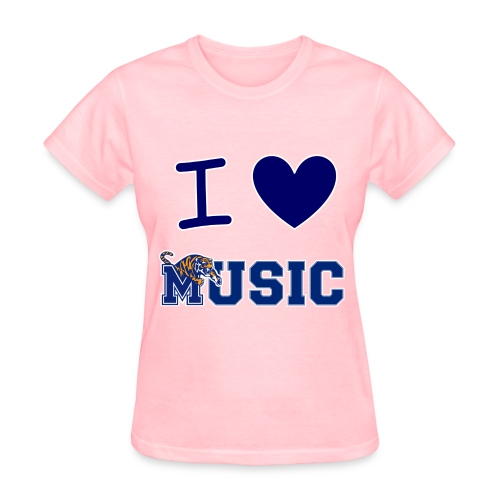 Ladies' iHeart Music T-Shirt (Light Colors) - Women's T-Shirt