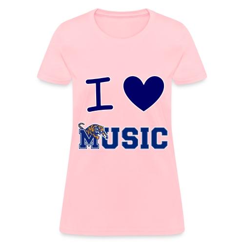 Ladies' iHeart Music T-Shirt (Light Colors) - Women's T-Shirt