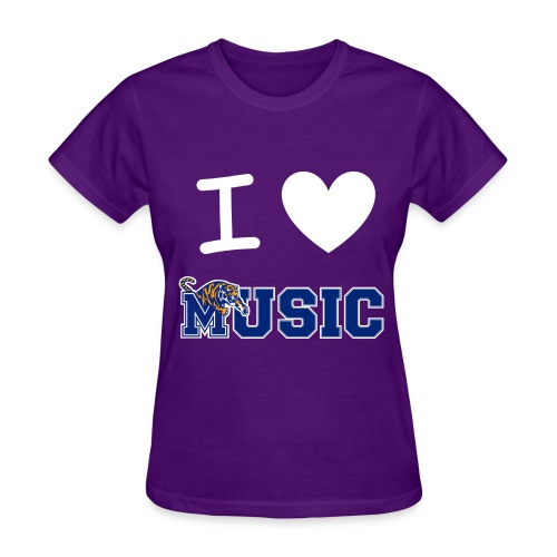 Ladies' iHeart Music T-Shirt (Dark Colors) - Women's T-Shirt