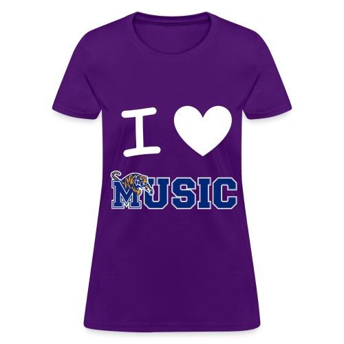 Ladies' iHeart Music T-Shirt (Dark Colors) - Women's T-Shirt