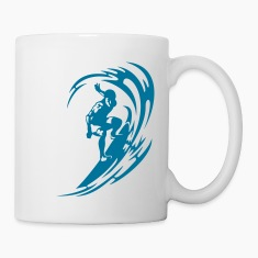 Surfing Bottles & Mugs