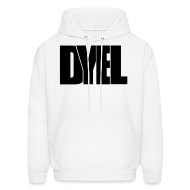 Hoodies ~ Men's Hoodie ~ DYEL hoodie + DYE logo on the back (black writing)
