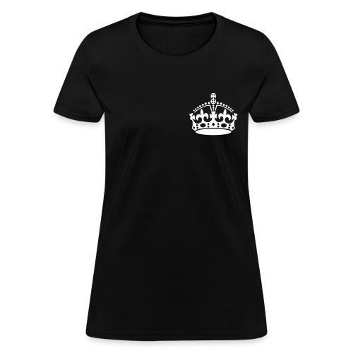 Crown Premium Tee - Black - Women's T-Shirt