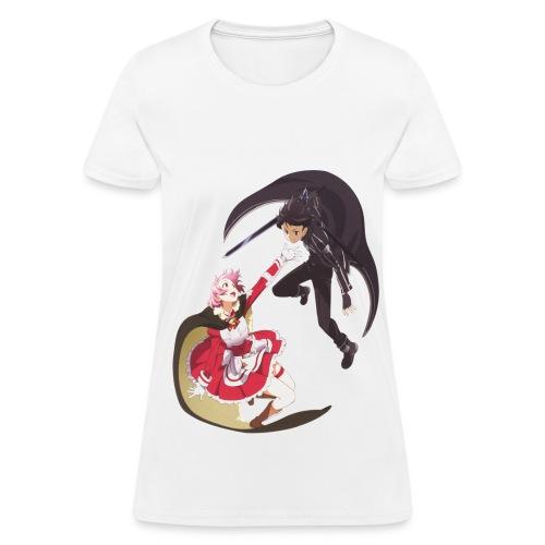 Lisbeth and Kirito Female T Shirts - Women's T-Shirt