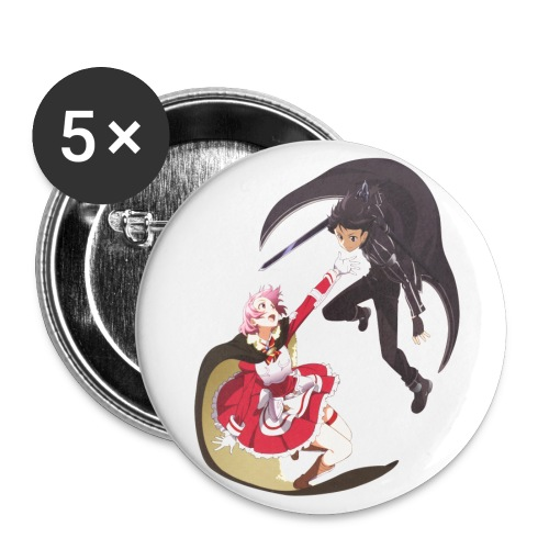 Lisbeth and Kirito Buttons - Large Buttons