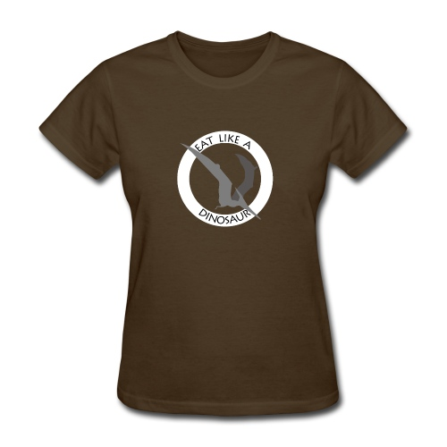 Pterodactyl ~ Eat Like a Dinosaur - dark shirt - Women's T-Shirt