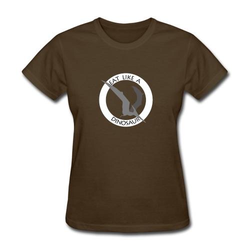 Pterodactyl ~ Eat Like a Dinosaur - dark shirt - Women's T-Shirt