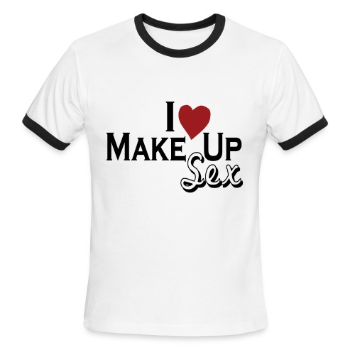 MAKE-UP T-SHIRT - Men's Ringer T-Shirt