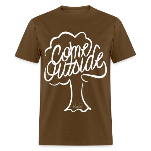 Men's Come Outside Standard weight t-shirt  - Men's T-Shirt