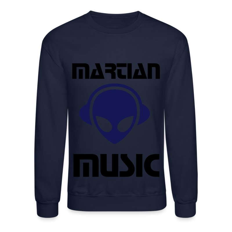 Alien headphones Glow in the dark - Crewneck Sweatshirt