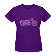 Women's T-Shirts ~ Women's T-Shirt ~ color me fast - parilla 250cc