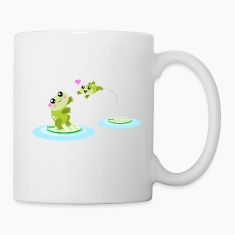 Mother and child cute frogs Bottles & Mugs