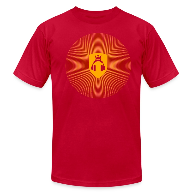 Red Crest Radiation - Men's T-Shirt by American Apparel