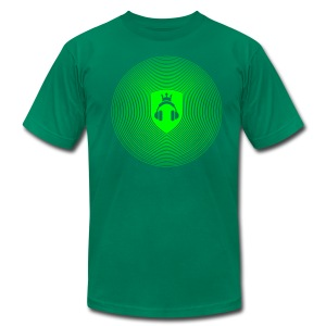 Green Crest Radiation - Men's T-Shirt by American Apparel