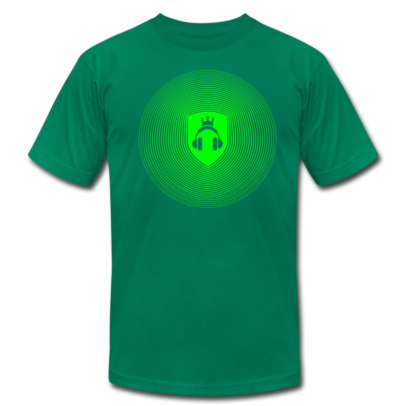 Green Crest Radiation - Men's Fine Jersey T-Shirt